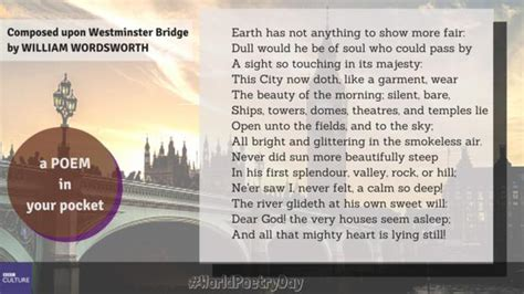 composed upon westminster bridge essay